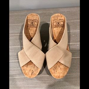 Lucky Brand Miller Platform Cork Wedges Natural 7